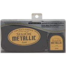 Stazon Metallic Ink Kit Gold