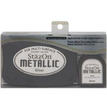 Stazon Metallic Ink Kit Silver