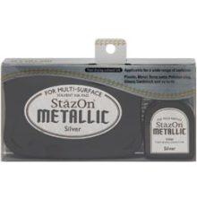 Stazon Metallic Ink Kit Silver