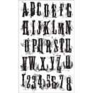 Tim Holtz Cling Rubber Stamp Set - Grudge Alphabet