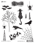 Dyan Reaveley's Dylusions Cling Stamp Collection - Bits & Bats