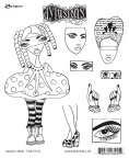 Dyan Reaveley's Dylusions Cling Stamp Collection - Curious Corrin