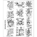 Tim Holtz Cling Rubber Stamp Set - Mini Blueprint