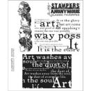Tim Holtz Cling Rubber Stamp Set - Classics #4