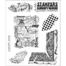 Tim Holtz Cling Rubber Stamp Set - Classics #7