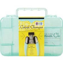 We R Memory Keepers Crop-A-Dile Corner Chomper Carrying Case Aqua