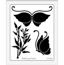 Dreamweaver Stencils LG - Oriental butterfly UTGÅENDE