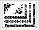 Dreamweaver Stencils LJ - Borders combo