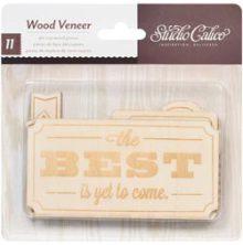 Studio Calico - Darling Dear Laser-Cut Wood Veneer Shapes - Tags & PlatesUTGÅEND