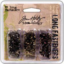 Tim Holtz Idea-Ology Long Fasteners .4375´ 99/Pkg
