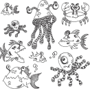 Dyan Reaveleys - Dylusions Cling Stamp Collection - Under The Sea