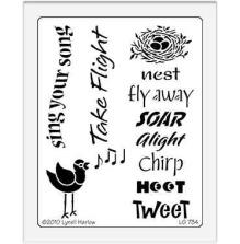 Dreamweaver Stencils LG - Bird song