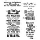 Tim Holtz Large Cling Rubber Stamp Set - Way With Words