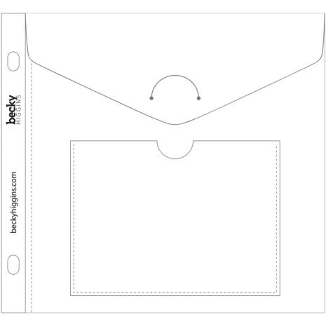Project Life Big Envelope Pages 6X6 5/Pkg