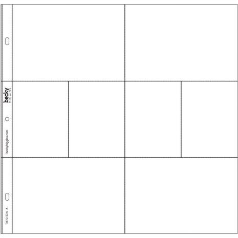 Project Life Photo Pocket Pages 12/Pkg - Design A