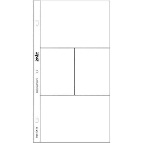 Project Life Photo Pocket Pages 12/Pkg - Design H