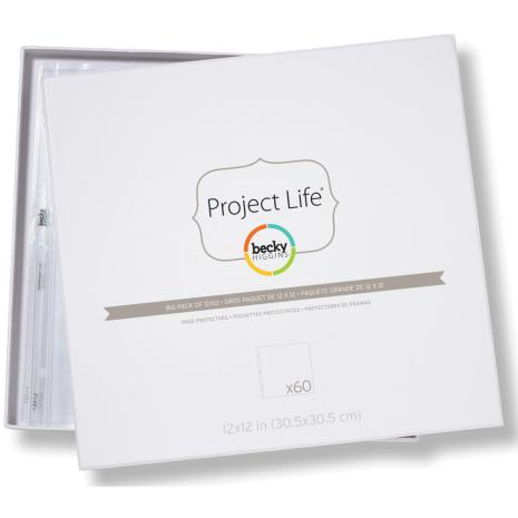 Project Life Page Protectors 12X12 60/Pkg - Big Pack