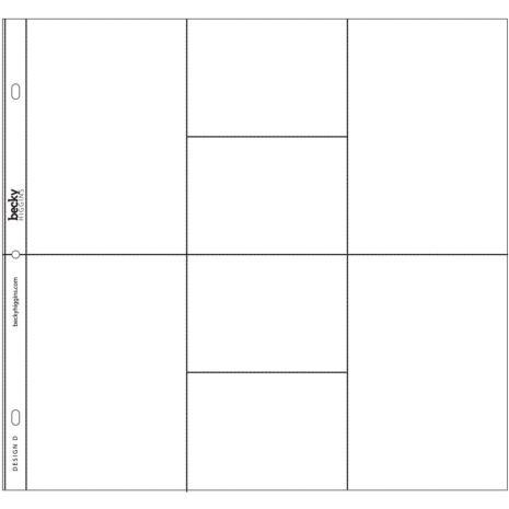 Project Life Photo Pocket Pages 12/Pkg - Design D