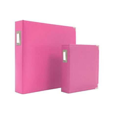 Simple Stories Snap Leather Binder 6X8 - Pink