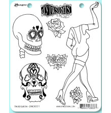 Dyan Reaveleys Dylusions Cling Stamp Collection - Pin Up Queen