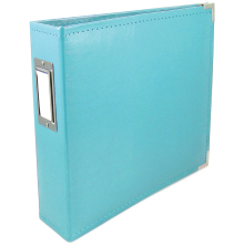 We R Memory Keepers Faux Leather 3-Ring Binder 12X12 - Aqua