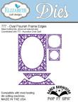 Elizabeth Craft Pop It Up Metal Dies By Karen Burniston - Oval Flourish Frame Edges