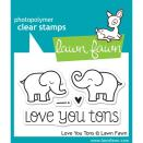 Lawn Fawn Clear Stamps 3X2 - Love You Tons