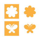 Sizzix Movers & Shapers Magnetic Die Set 2PK - Flower & Butterfly Set