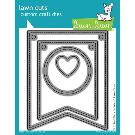 Lawn Fawn Custom Craft Dies - Stitched Party Banners