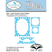 Elizabeth Craft Metal Die - Oval Clouds Frame Edges