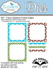 Elizabeth Craft Metal Die - Fancy Seasons Frame Edges UTGÅENDE