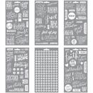 Me & My Big Ideas Pocket Pages Clear Stickers 6 Sheets/Pkg - Faith