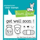 Lawn Fawn Clear Stamps 3X2 - Get Well Soon