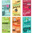 Me & My Big Ideas Pocket Pages Clear Stickers 6 Sheets/Pkg - Birthday
