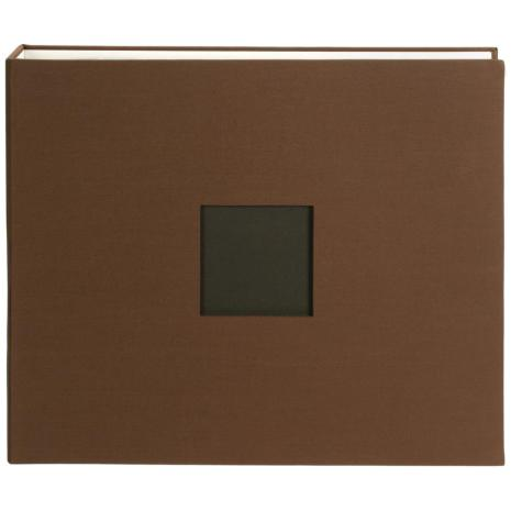 American Crafts Cloth D-Ring Album 12X12 - Chestnut