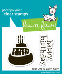 Lawn Fawn Clear Stamps 3X2 - Year One
