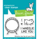 Lawn Fawn Clear Stamps 3X2 - Wheelie Like You