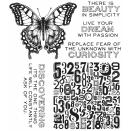 Tim Holtz Cling Rubber Stamp Set 7X8.5 - Perspective