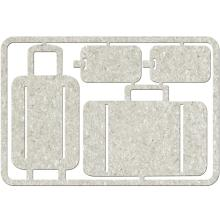 FabScraps Die-Cut Gray Chipboard Embellishments Luggage & Luggage Tags, Frame