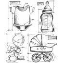 Tim Holtz Cling Rubber Stamp Set 7X8.5 - Baby Blueprint
