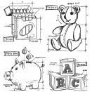 Tim Holtz Cling Rubber Stamp Set 7X8.5 - Childhood Blueprint