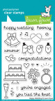 Lawn Fawn Clear Stamps 4X6 - Happy Wedding