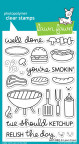 Lawn Fawn Clear Stamps 4X6 - Let's BBQ