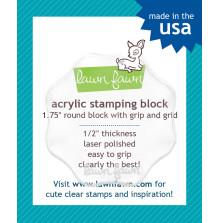 Lawn Fawn 1.75 Round Acrylic Block W/Grip