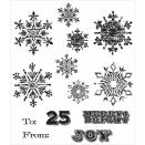 Tim Holtz Cling Rubber Stamp Set - Mini Weathered Winter
