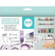 We R Memory Keepers Snap Storage Ribbon Clips 6/Pkg - Medium