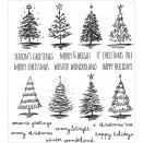 Tim Holtz Cling Rubber Stamp Set 7X8.5 - Scribble Christmas