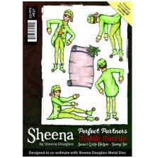 Sheena Douglass Perfect Partners A5 Rubber Stamp Set - Santas Little Helper UTGÅENDE