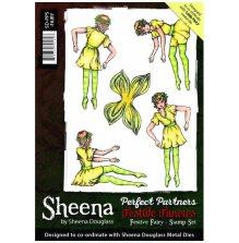 Sheena Douglass Perfect Partners A5 Rubber Stamp Set - Festive Fairies UTGÅENDE