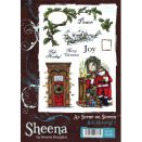 Crafters Companion Sheena Douglass As Scene on Screen Stamp Set - Bah! Humbug! 2